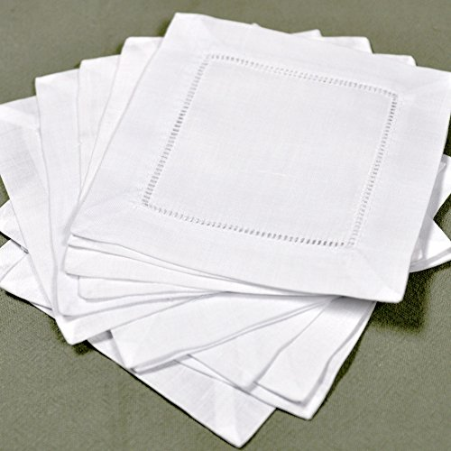 Awardpedia white linen hemstitched cocktail napkins 1 for White linen cocktail recipe