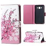 Samsung J3 Lederhülle ,PU Leder Wallet Case Folio