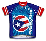Puerto Rico Short Sleeve Cycling Jersey for Men - Size XS