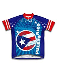 Puerto Rico Short Sleeve Cycling Jersey for Women