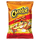 Cheetos Cheese Snacks, Crunchy Hot, 2-Ounce Large Single Serve Bags (Pack of 64) ~ Cheetos