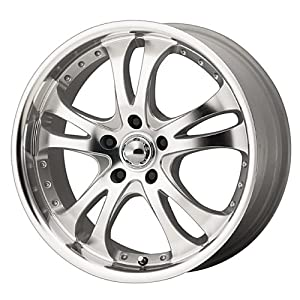 American Racing Casino AR383 Silver Wheel with Machined Face And Lip (16×7″/5×4.5″)