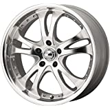 "American Racing Custom Wheels AR383 Casino Silver Wheel (16x7""/5x114.3mm, +42mm offset)"