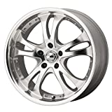 American Racing Casino (Series AR383) Silver With Machined Face And Lip - 16 X 7 Inch Wheel
