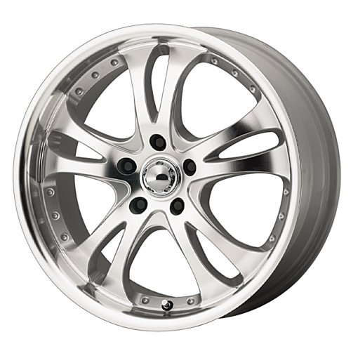 American Racing Casino (Series AR383) Silver With Machined Face And Lip - 18 X 8 Inch Wheel