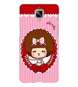 EPICCASE Happy girl Mobile Back Case Cover For OnePlus Three (Designer Case)