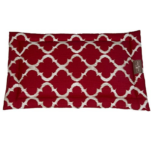 Jax And Bones Monaco Everyday Cotton Cozy Pet Mat, X-Large, Scarlet