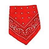 One Dozen Red Cowboy Bandanas