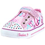 Skechers Shuffles-Jazz Girl, Baskets mode fille qui s'eclairent en marchant qui s'eclairent en marchant, Baskets mode fille