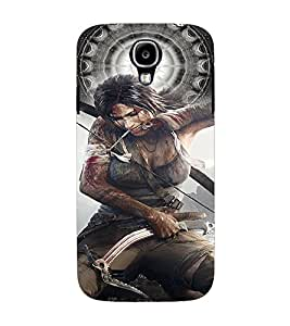 PrintVisa Fighter Hot & Sexy Girl 3D Hard Polycarbonate Designer Back Case Cover for Samsung Galaxy S4 Mini