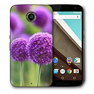 Snoogg Purple Blossoms Printed Protective Phone Back Case Cover For LG Google Nexus 6