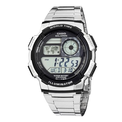 Casio Men's AE1000WD-1AVCF World Time Silver-Tone