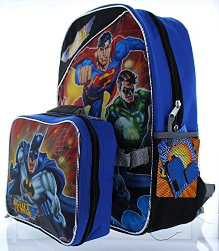Fast Forward Backpack and Lunch Bag Set Justice League Batman