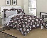 Loft Style Dillon Modern Geometric Bedding Comforter Set, Multi-Colored, Queen