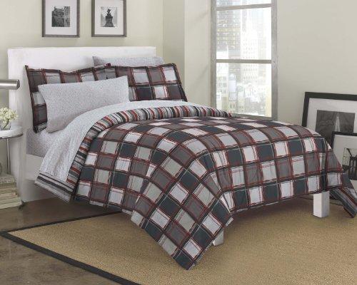 Dream Factory Dillon Modern Geometric Bedding Comforter Set, Full, Multi-Colored