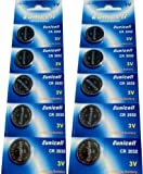 10 x CR2032 Markenware Eunicell 3V Lithium Knopfzelle auf 2 Blistercard a 5 Stück Eunicell Vertrieb Deutschland