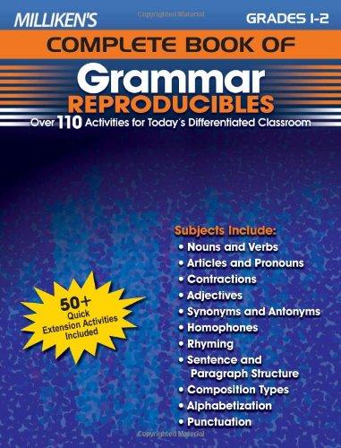 Milliken's Complete Book of Grammar Reproducibles - Grades 1-2 (Milliken Publishing Company compare prices)