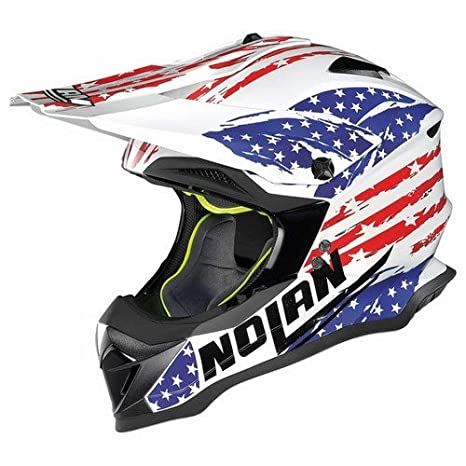 Nolan n 53 rODEO aIR off-road full face casque, couleur :  métal blanc taille :  l