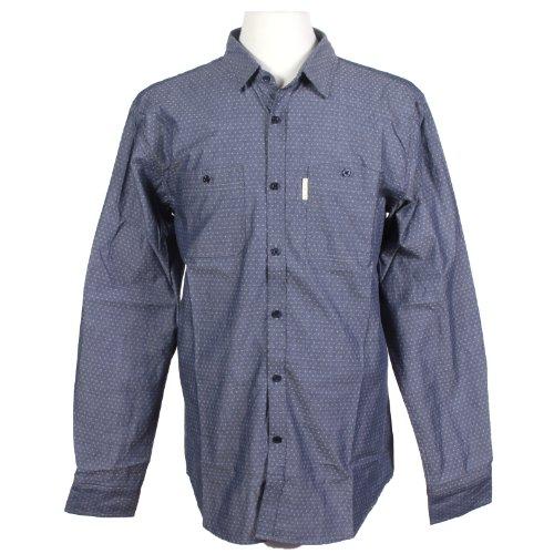 Marc Ecko Cut & Sew Men'S Manic Shirt Long Sleeve True Navy Large