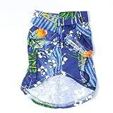 Etosell Pet Dog Clothes Hawaiian T Shirt Summer Apparel Clothing Beachwear Blue L
