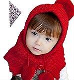 【On Dolce】 選べる5色 ベビー キッズ 赤ちゃん 子 用 かわいい 赤ずきんちゃん風 ニット帽 ニット帽子 ※ バンダナ 付き