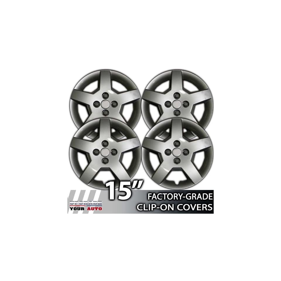 2005 2007 Chevrolet Cobalt 15 Inch Silver Metallic Clip On Hubcap Covers