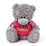 Me to You 7-inch Tatty Teddy Bear Wearing a Happy Birthday T-Shirt (Grey)