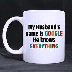 Amazon.com: Funny Husband Mug - Best Cool My Husband's Name is Google