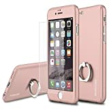 img - for MYRIANN Slim Case with Tempered Glass Screen Protector and Ring Kickstand for iPhone 6 / 6S - Rose Gold book / textbook / text book