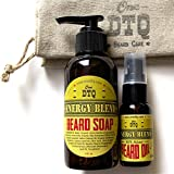 Energy Blend Beard and Mustache Care Gift Set: Beard Soap and Beard Conditioning Oil