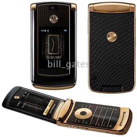 New Motorola 2GB razr2 V8 gold Luxury QUAD band UNLOCKED GSM cellphone razr2 V8