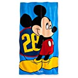 Mickey Mouse Bath Towel, 100% Cotton, Bright printed artwork of Mickey Mouse