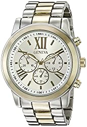 Geneva Womens FMDJM100E Analog Display Japanese Quartz Two Tone Watch