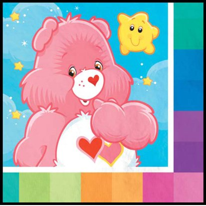 Care Bears Beverage Napkins - 16 Count - 1