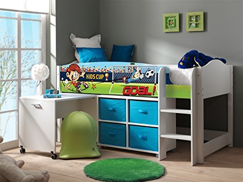 Kinderhochbett mit schreibtisch for Schreibtisch yasmin
