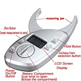 SODIAL Digital LCD Koerperfettzange Hautfaltendicke Gesundheit Fitness Gewichts Geschlecht