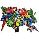 Parrots in Paradise a 1000-Piece Jigsaw Puzzle by Sunsout Inc.