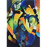 """Dolls Of India """"Girl Playing With Ducks"""" Reprint On Card Paper - Unframed (45.72 X 30.48 Centimeters)"""