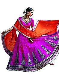 DesiButik's Wedding Wear Ravishing Rani Net Lehenga
