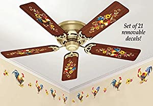 Amazon Com Removeable Rooster Ceiling Fan Amp Wall Decals