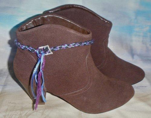 Boot Braid Kumihimo Kit with Rhinestone Buckle - Blue/Purple