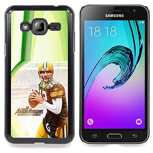 - Aaron Rodger 12 NFL - - Copertura della cassa impatto con Art Pattern Design FOR Samsung Galaxy J3 Queen Pattern