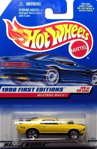 1998 First Editions -#29 Mustang Mach 1 Yellow 5-Spoke Wheels #18539 - 1