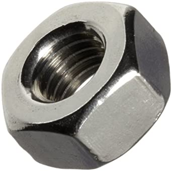 18-8 Stainless Steel Hex Nut, Passivated Finish, Right Hand Threads, Meets ASME B18.2.2, Inch
