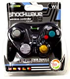 KMD Komodo Shockwave Wireless Black Controller for Wii and Gamecube
