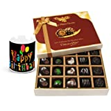 Smooth Sesame Of Dark And Milk Chocolate Box With Birthday Mug - Chocholik Belgium Chocolates