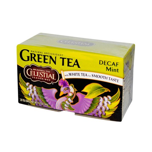 Celestial Seasonings Green Tea Caffeine Free Mint - 20 Tea Bags - Case of 6
