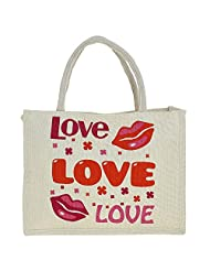 Jute Multipurpose Shopping Bag With Zipper - B015H6EXM2