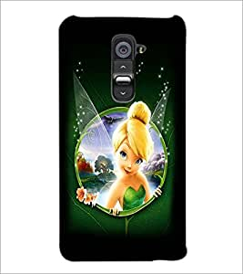PrintDhaba Cute Angel D-2287 Back Case Cover for LG G2 (Multi-Coloured)