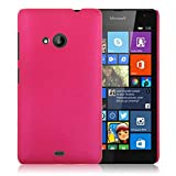 WOW Imagine Matte Rubberised Hard Case Back Cover For Nokia Microsoft Lumia 535 (Hot Pink)
